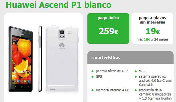 Huawei Ascend P1 con Amena