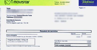 Movistar cobrará gastos de gestión sobre los recibos impagados