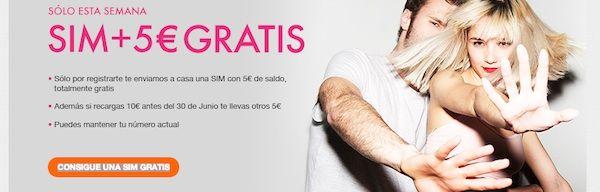 Tuenti Móvil y su promoción de SIM con 5 euros de regalo