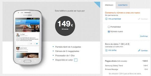 Samsung Galaxy Trend en Tuenti Móvil