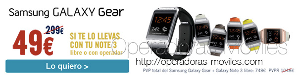Samsung Galaxy Gear a 49 euros si compras un Galaxy Note 3 en The Phoen House