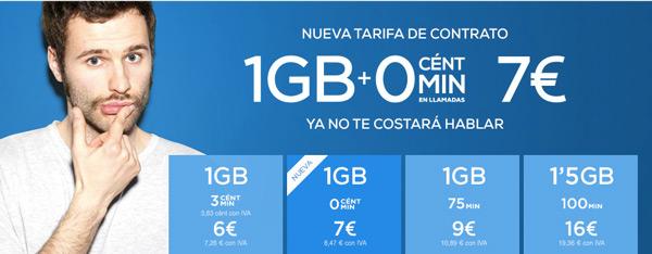Tuenti lanza una tarifa a 0 céntimos minuto y 1 GB por 7 euros al mes