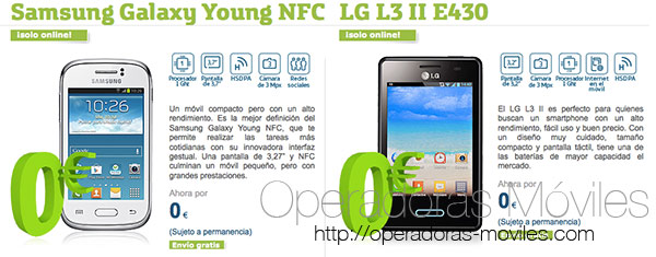 Movistar da móviles android gratis en contrato con permanencia