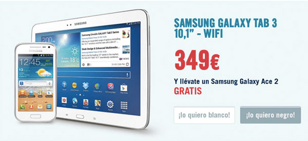 Un móvil gratis Samsung Galaxy al comprar un tablet en The Phone House