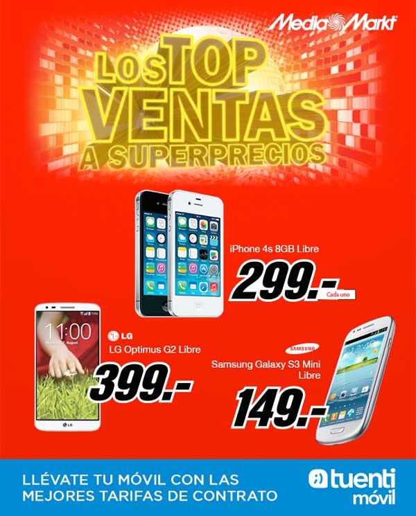 iPhone 4S por 299 euros y LG G2 por 399 con Tuenti Móvil