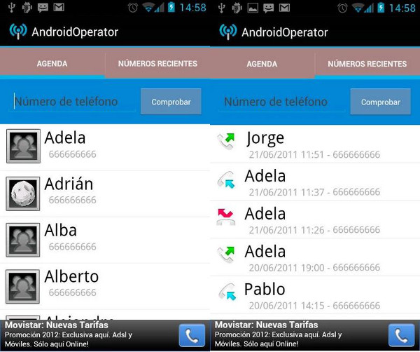 Conoce la operadora de un móvil con Android Operator