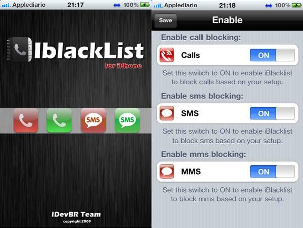 Bloquea llamadas en iOS 6 con iblackList