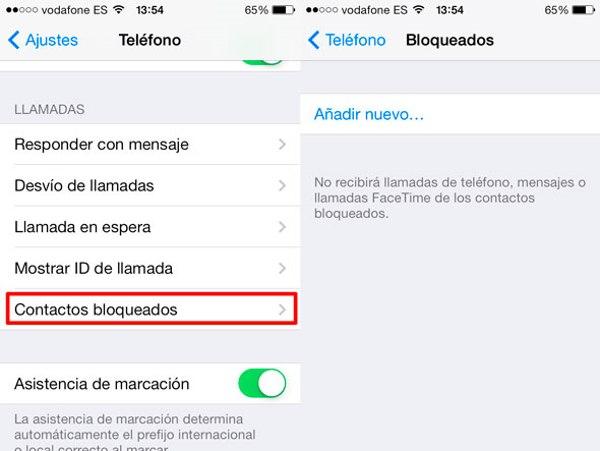 Cómo bloquear un número de teléfono y llamadas desde tu móvil: iOS 7