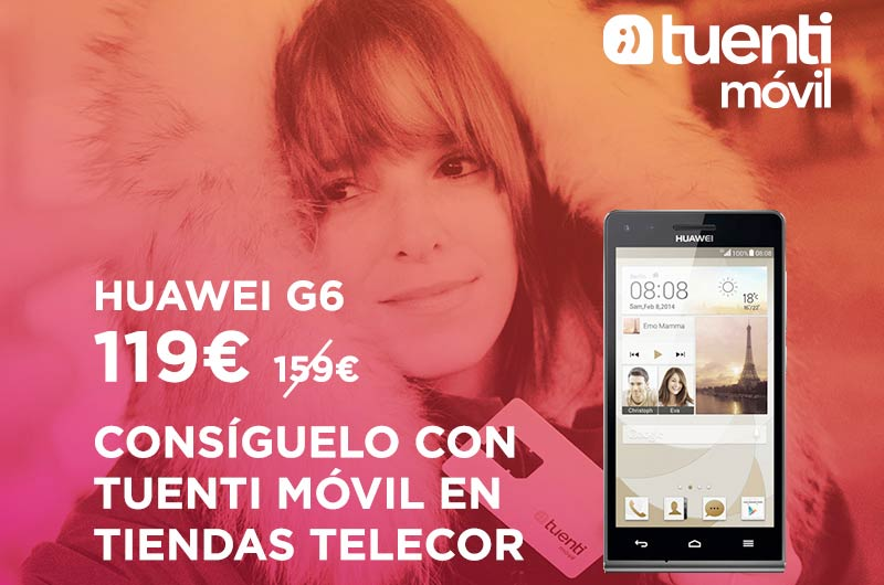 Huawei Ascend G6 en oferta en prepago Tuenti por 119 euros