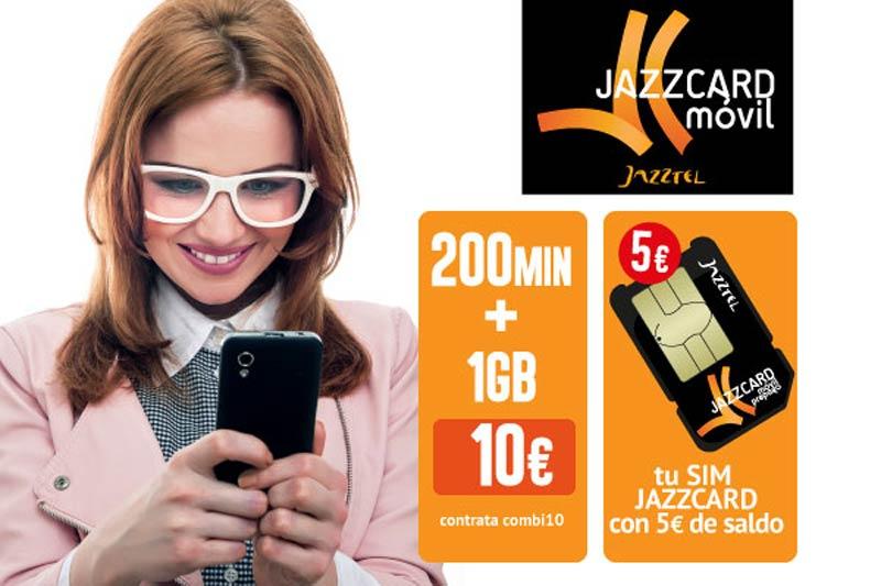 Jazzcard Móvil, el prepago de Jazztel, mejora combis de voz y datos