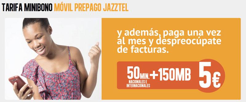 Jazztel ofrece nuevos bonos de minutos y megas para prepago