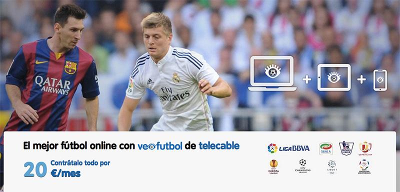 Telecable crea VeoFutbol, para ver el fútbol por Internet